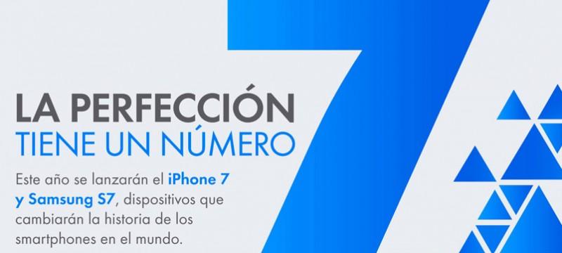 Galaxy S7 y iPhone 7 en linio