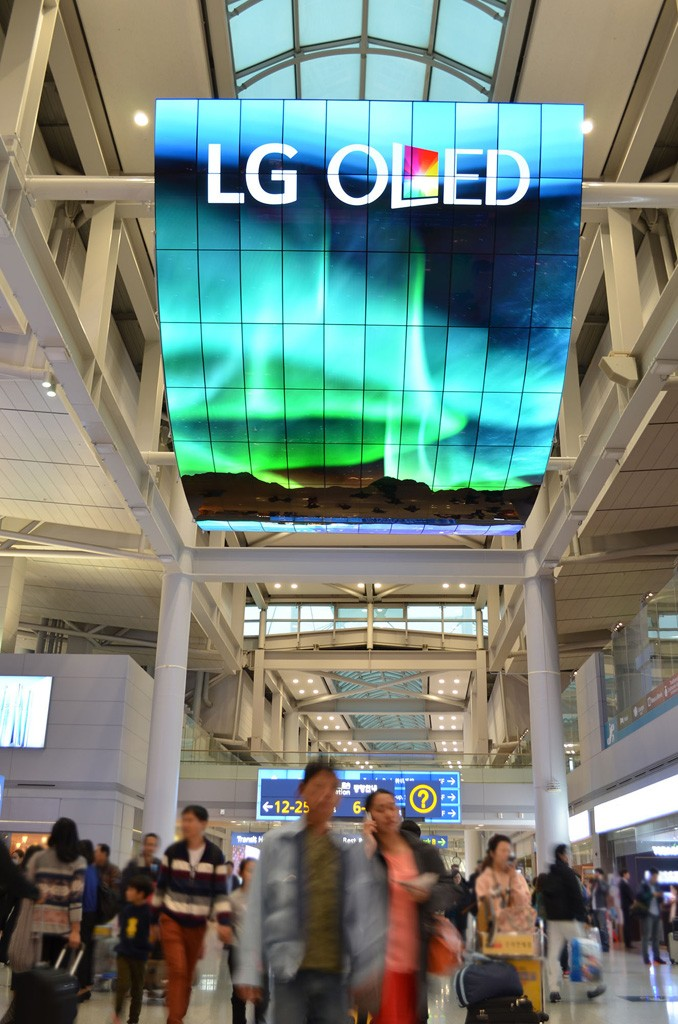 OLED Signage Incheon Airport