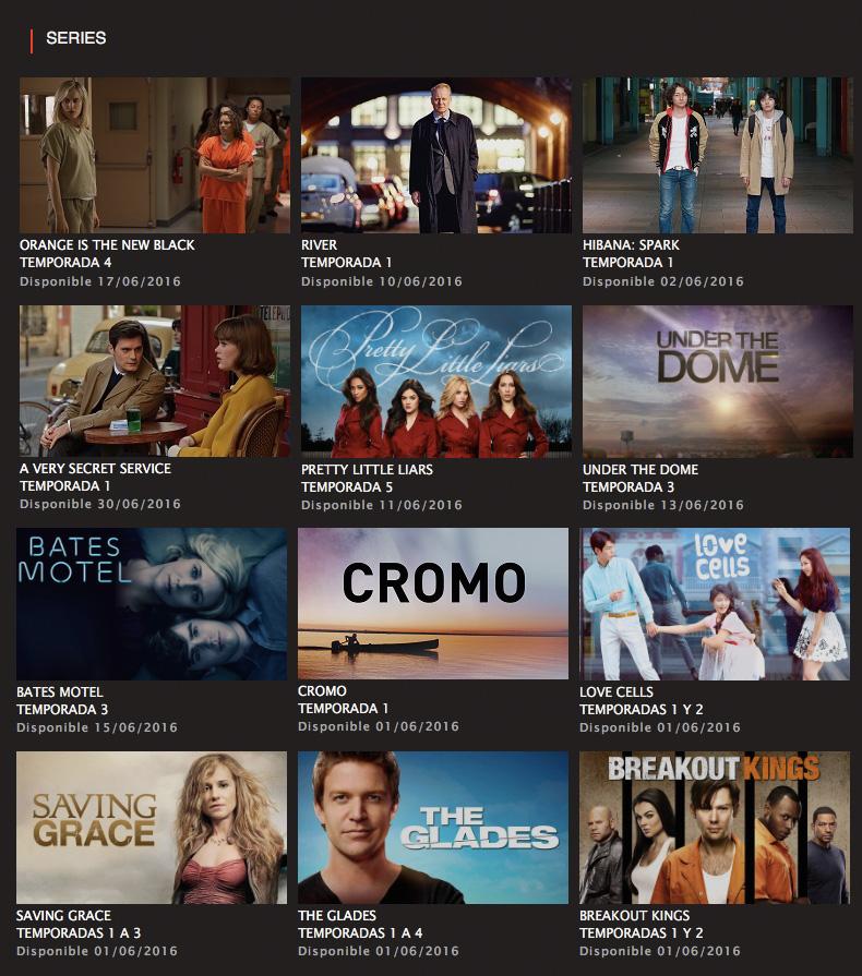 Series Netflix Junio 2016