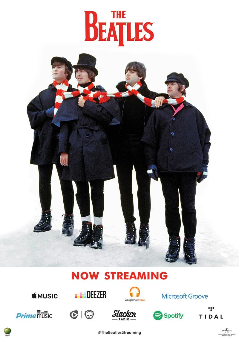 The Beatles streaming Navidad