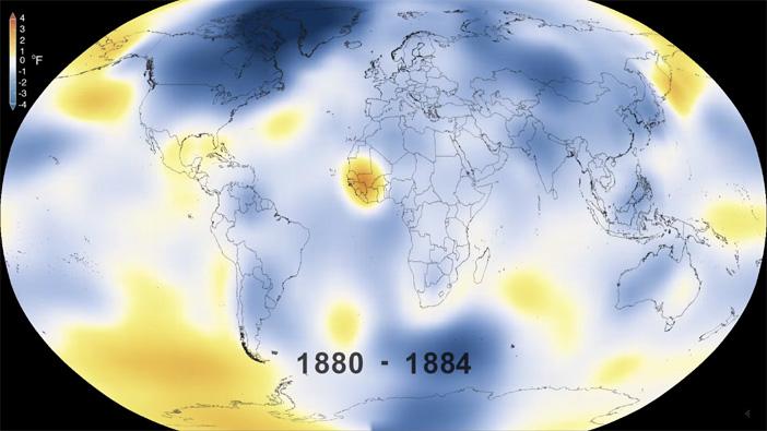 Calentamiento global 1880 vs 2015