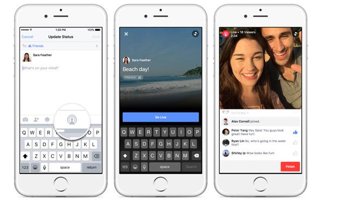 Facebook Live iPhone
