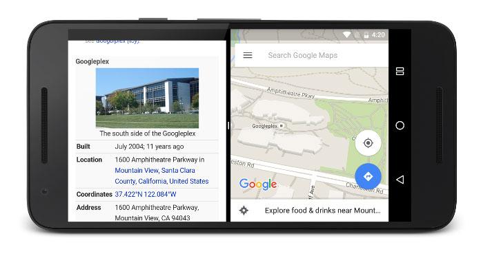 Android N pantalla dividida