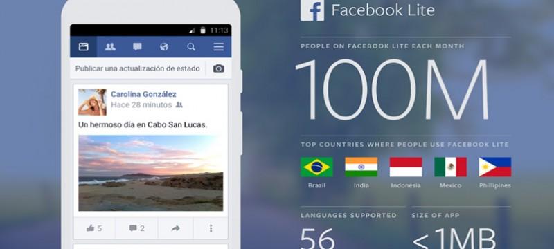 Facebook Lite 100 m