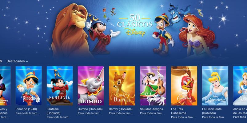 50 Clásicos Disney disponibles en iTunes y Google Play