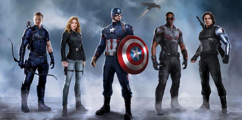 Así trabajan Capitán América, Falco y Scarlet Witch para Civil War