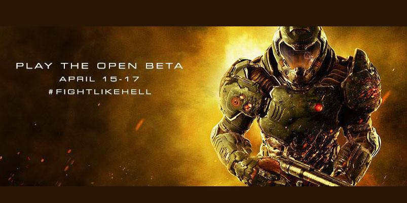 El torneo Beta de DOOM se lanzará del 15 al 17 de abril