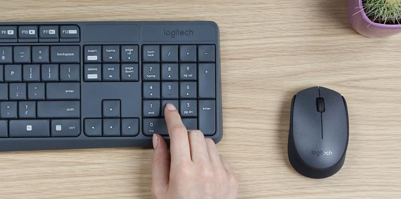 Logitech Combo MK235 con teclado y mouse inalámbrico