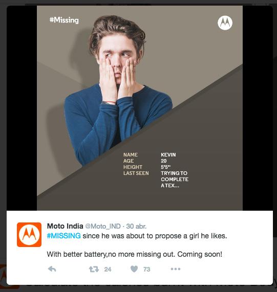 Moto #Missing bateria