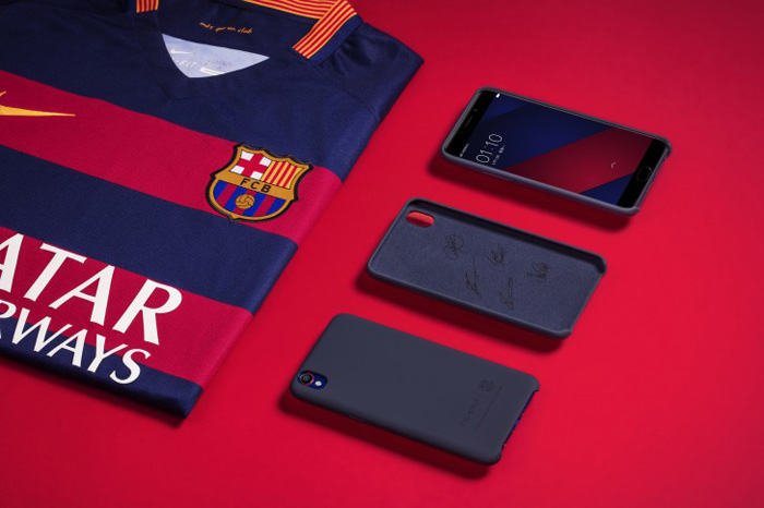 Oppo F1 Plus FC Barcelona Edition autografos
