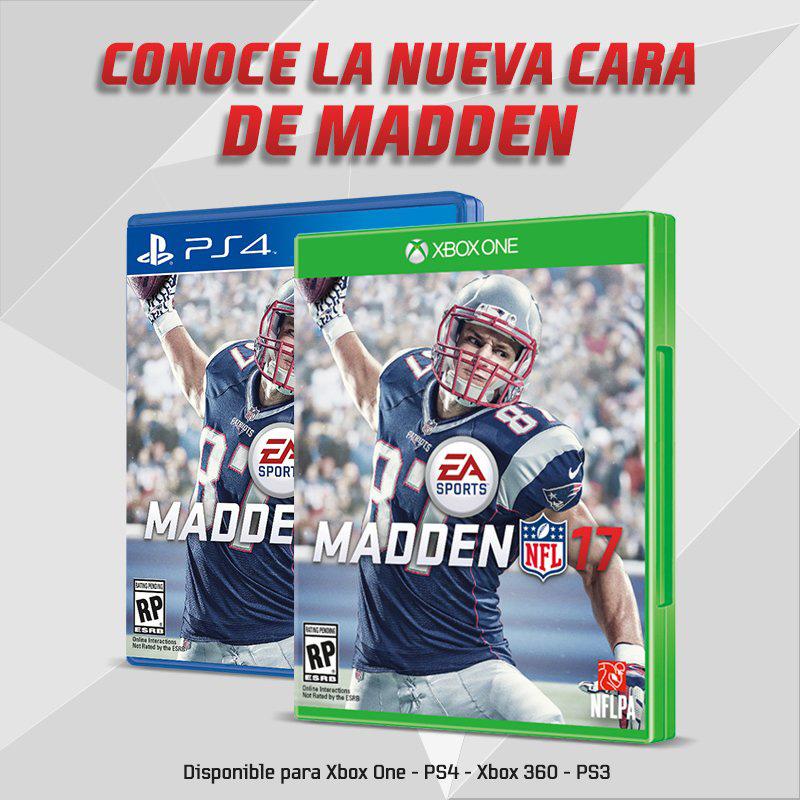 Rob Gronkowski portada Madden NFL 17
