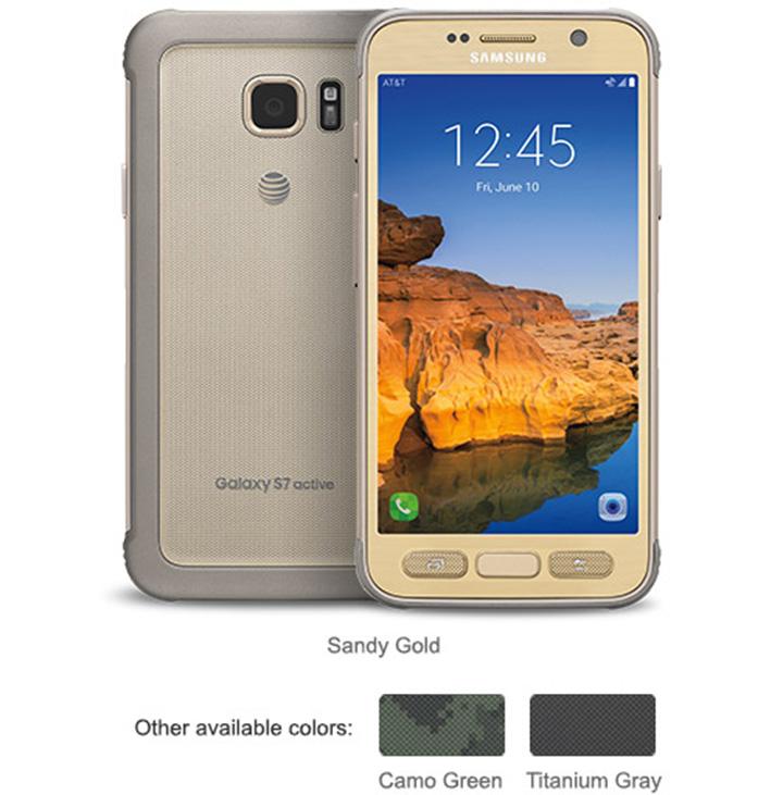 Samsung Galaxy S7 active colores