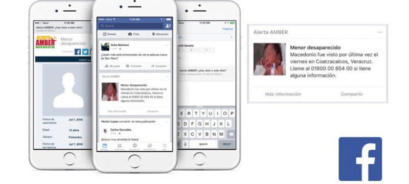 Alerta Amber en Facebook Mexici