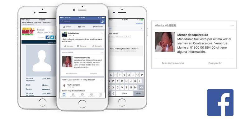 Facebook implementa la Alerta AMBER en México
