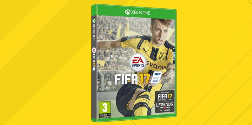Marcos Reus del Borussia Dortmund en la portada de FIFA 17