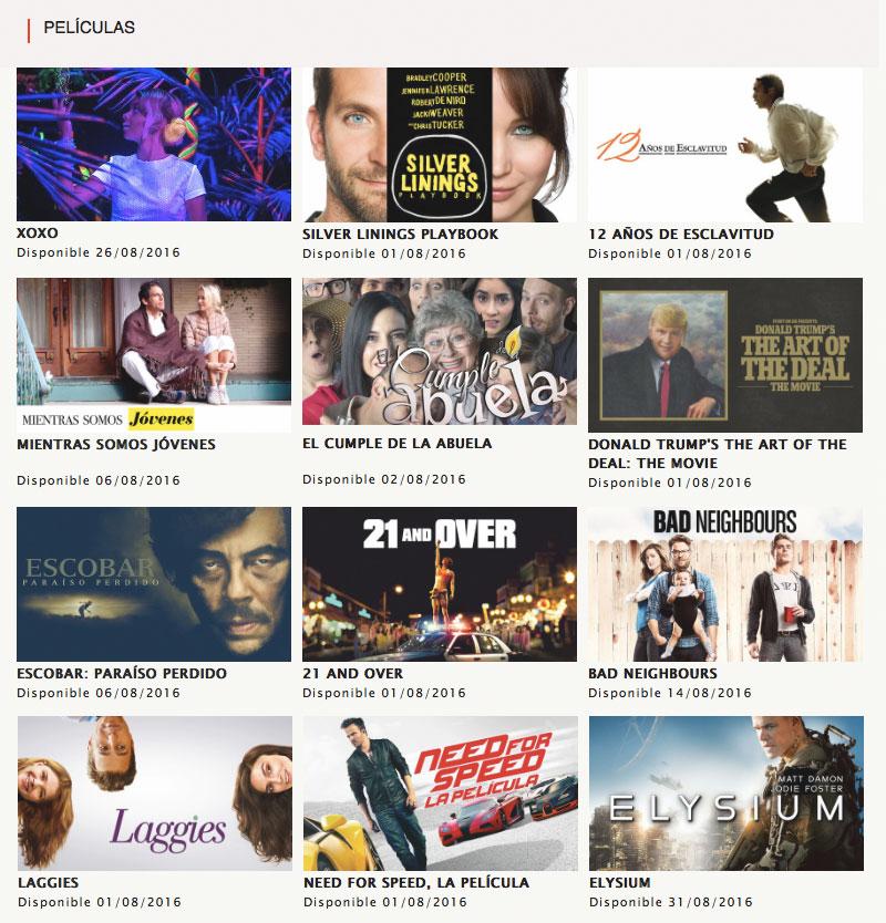 Películas Netflix agosto 2016