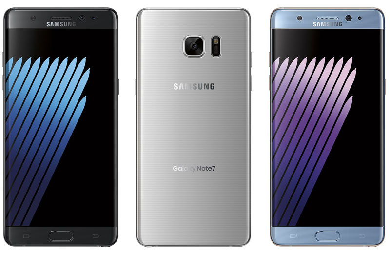 Samsung Galaxy Note 7 Colores