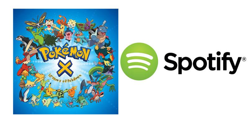 Canciones de Pokémon Go en Spotify