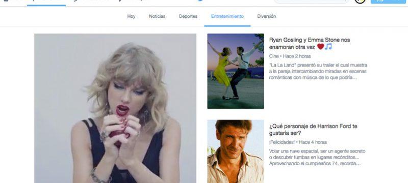 Twitter Momentos en Mexico