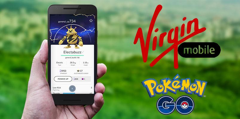 Paquetes de Virgin Mobile México para jugar Pokémon GO
