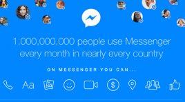 Mil millones de personas usan Messenger de Facebook