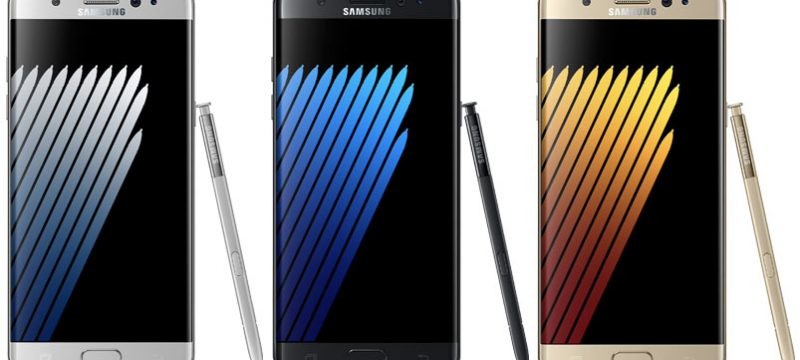 Galaxy Note7 colores