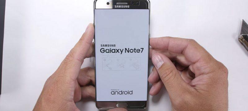 Galaxy Note7 rayaduras