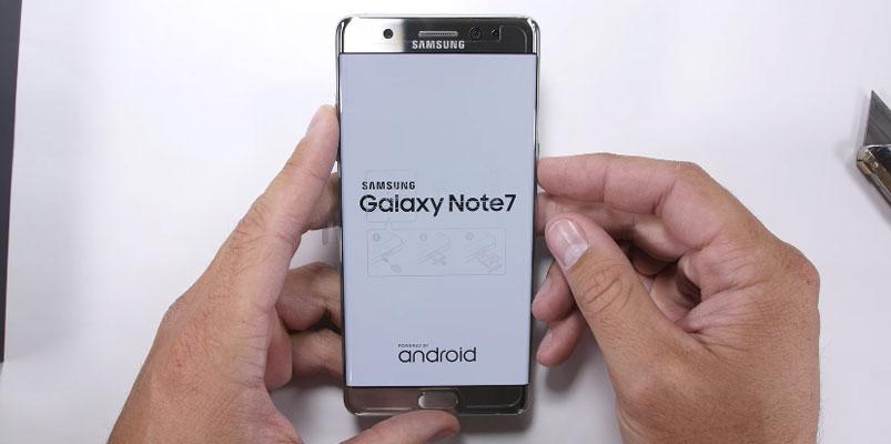 La pantalla de Galaxy Note7 no es resistente a rayaduras