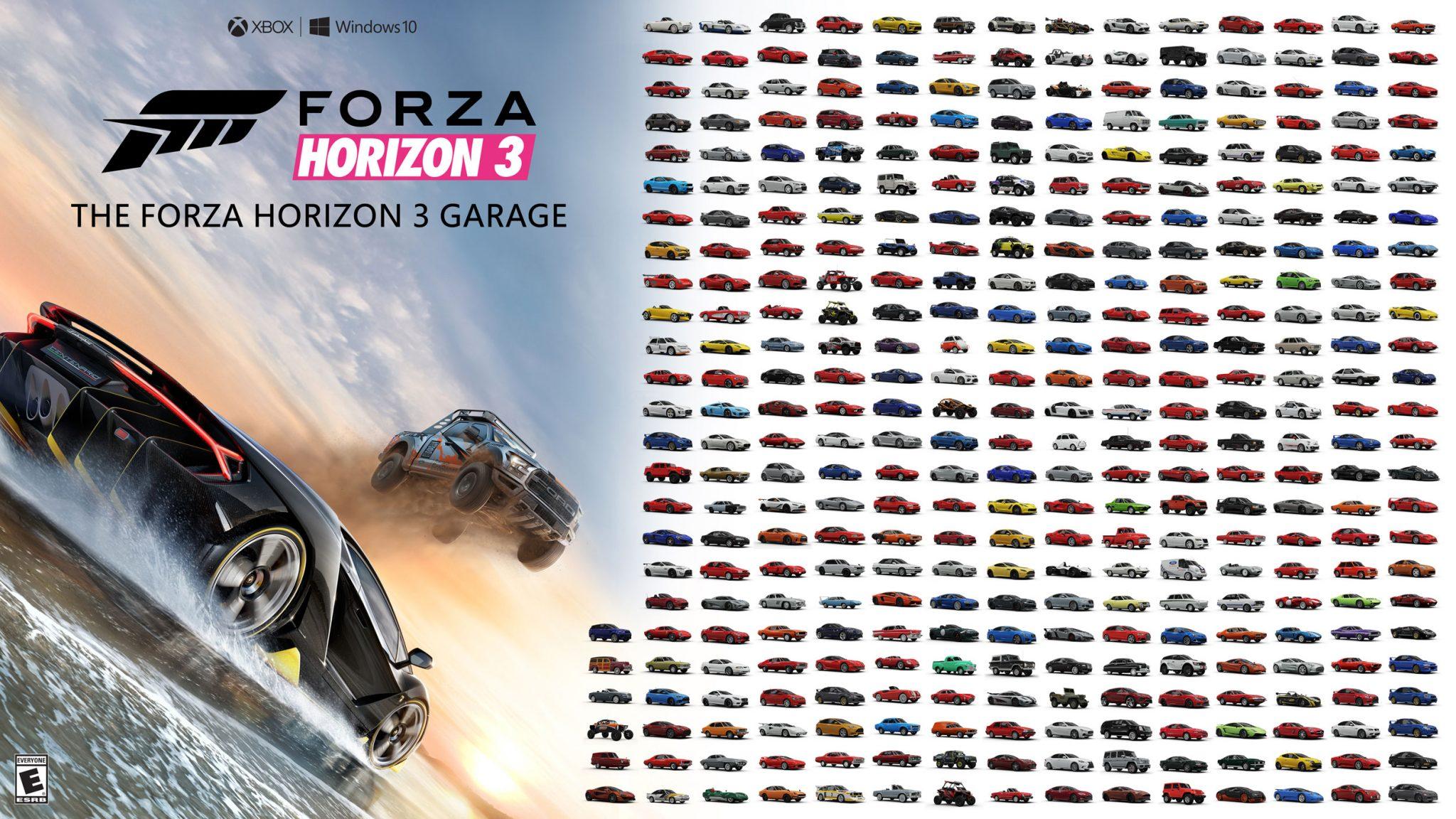 Forza Horizon 3 todos los coches