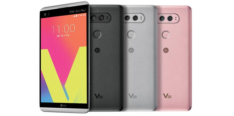 LG V20 con dos cámaras, sonido Hi-Fi y dos pantallas
