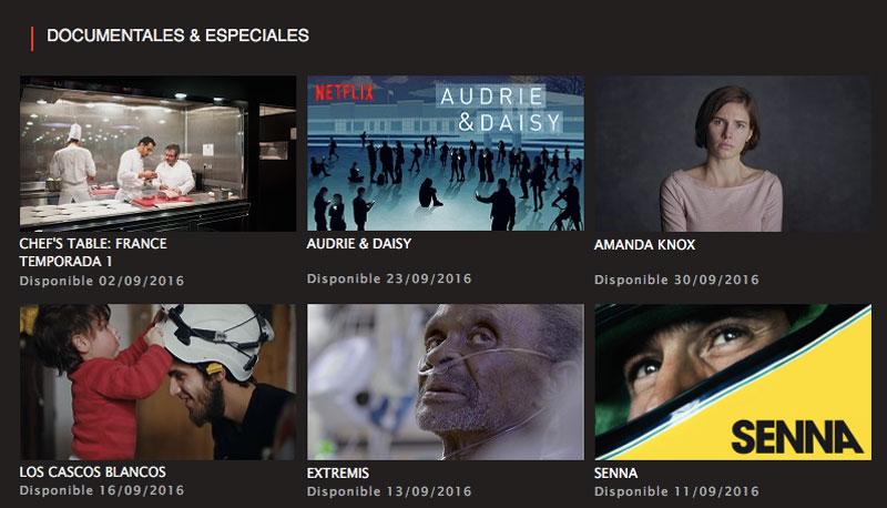 Netflix Documentales Septiembre 2016
