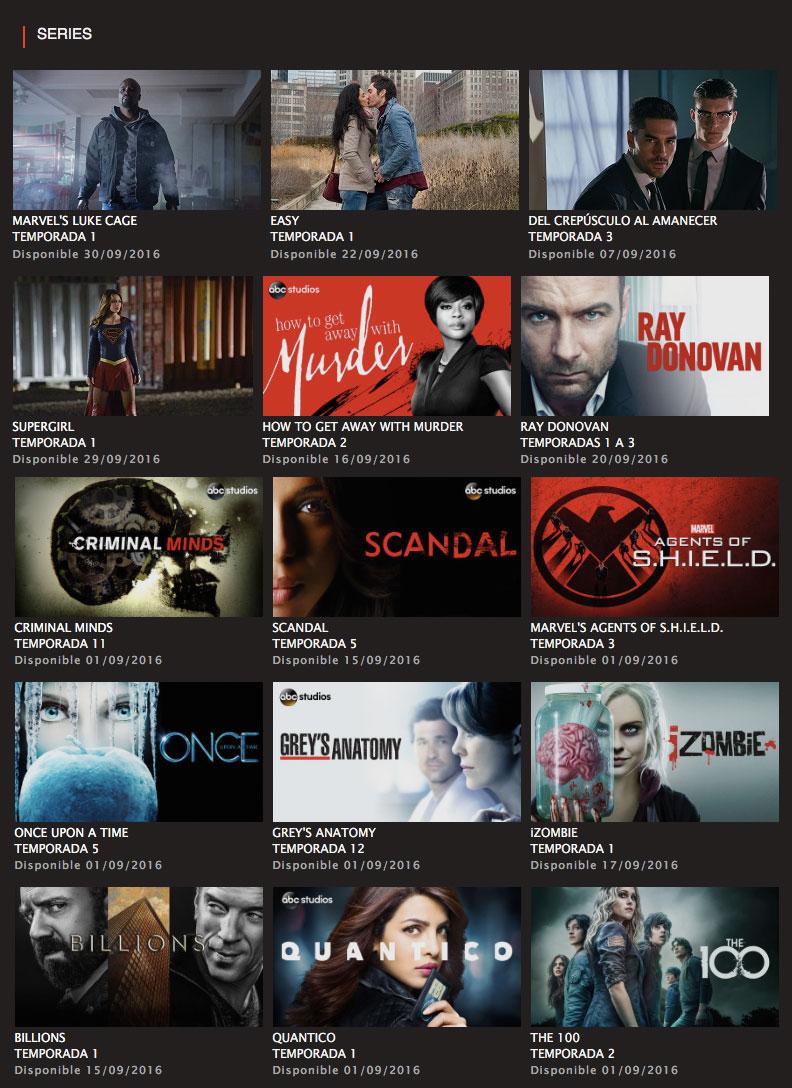 Netflix Series Septiembre 2016