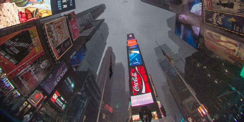 Tecnologías de AMD en Times Square