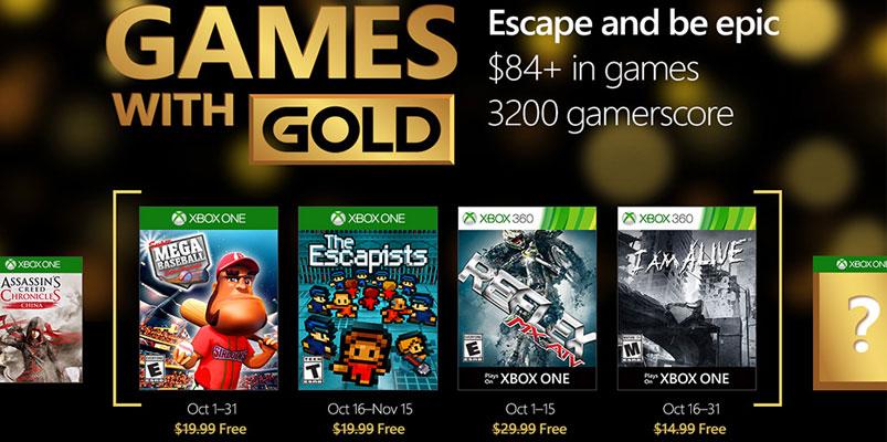 Los Games With Gold de Xbox para el mes de octubre 2016