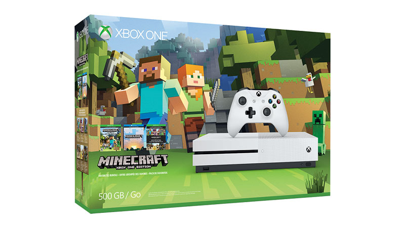 bundle minecraft xbox one s 500gb