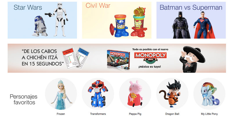 Los juguetes y videojuegos más populares en Amazon.com.mx