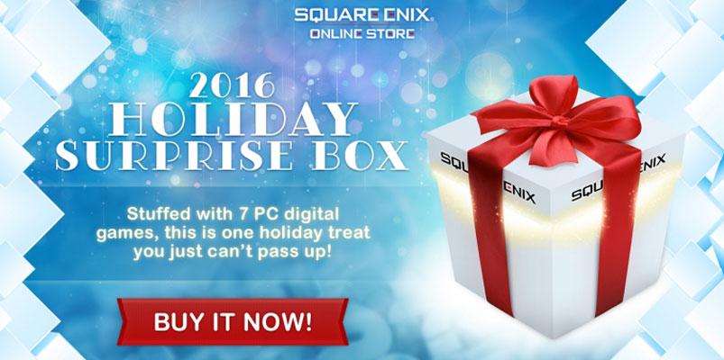 Para los PC Gamers, regresa la Holiday Surprise Box de Square Enix