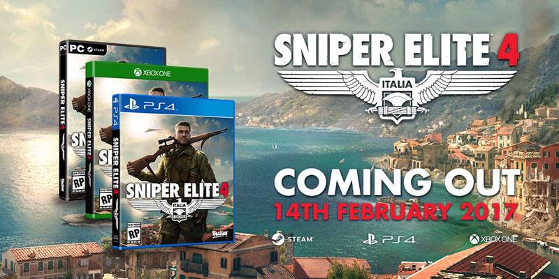 Sniper Elite 4 Rebellion fecha