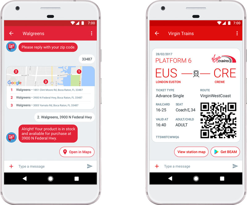 Android Messages Boletos