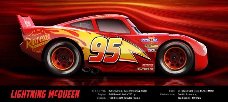 CARS 3 McQueen corredores