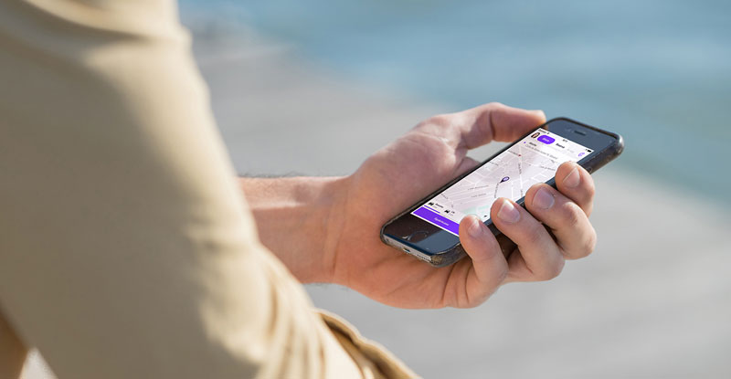 Cabify purpura app