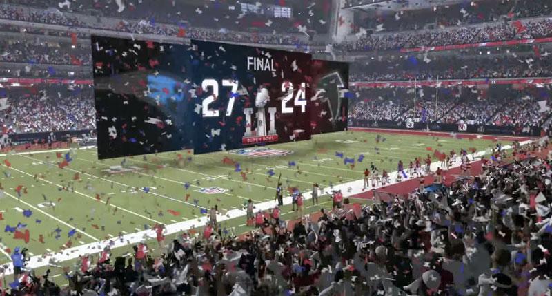 Super Bowl LI Madden NFL 17 score