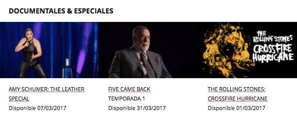 Documentales Marzo 2017 Netflix