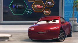 Lewis Hamilton entre los personajes de Cars 3 de Disney•Pixar