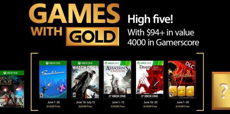 Xbox anuncia los títulos Games With Gold para junio 2017