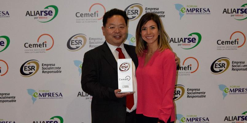Samsung México reconocida como Empresa Socialmente Responsable