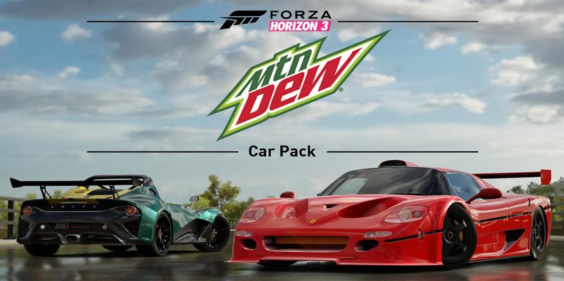 El Mountain Dew Car Pack ya está disponible para Forza Horizon 3