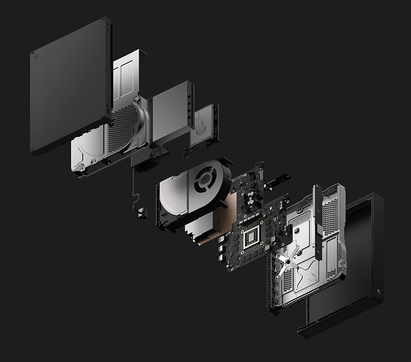 Xbox One X interior