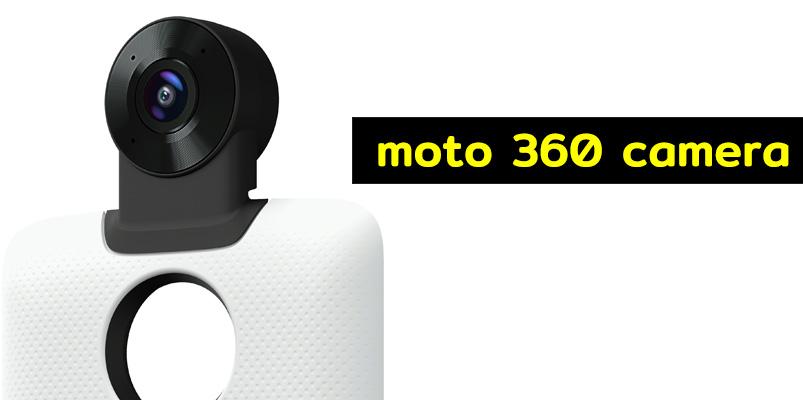 Características de 360 Cámara Moto Mod que graba en 4K