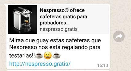 Nespresso estafa